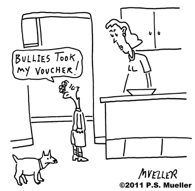 Bullies took my voucher!