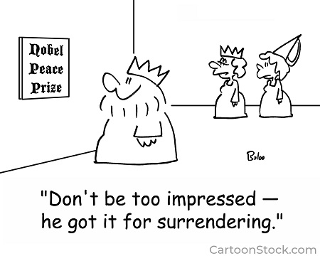 """""""Don't be too impressed—he got it for surrendering."""""""